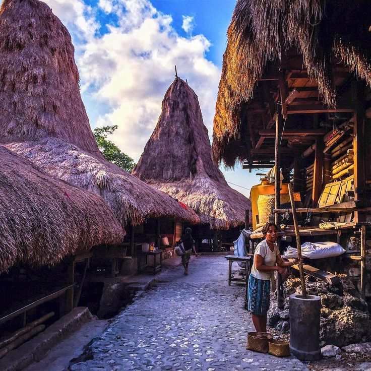 """Daily activity in a traditional village at Waitabar , Island of Sumba, Indonesia. #natgeo #_natgeo_ #architecture traditional #landscape Indonesia #Sumba…"""