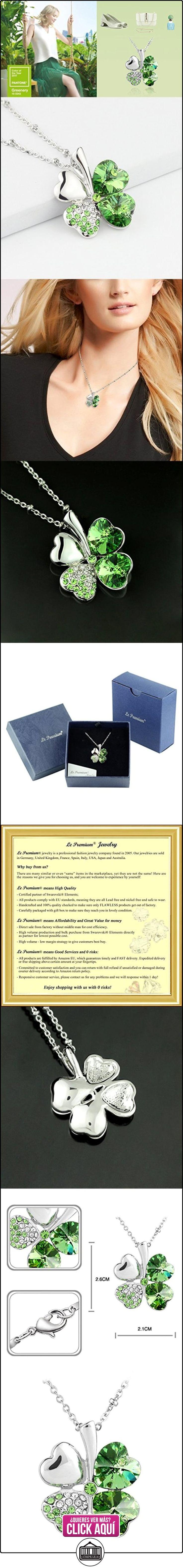 Le Premium® Cuatro SWAROVSKI en forma de cristales de color Verde peridoto brillante de la hoja del trébol de la hoja del collar pendiente del corazón  ✿ Joyas para mujer - Las mejores ofertas ✿ ▬► Ver oferta: https://comprar.io/goto/B006656X2M
