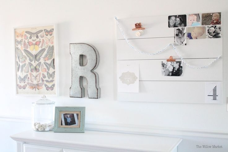 Large homemade wall hanging. Gallery wall. Homemade bulletin board. Large planked wood wall hanging. Planked wall.