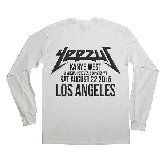 Yeezus Tour Shirt Los Angeles Long sleeve Yeezy Yeezus