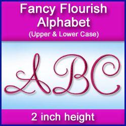 A Fancy Flourish Alphabet Design Pack (2 Inch Height)