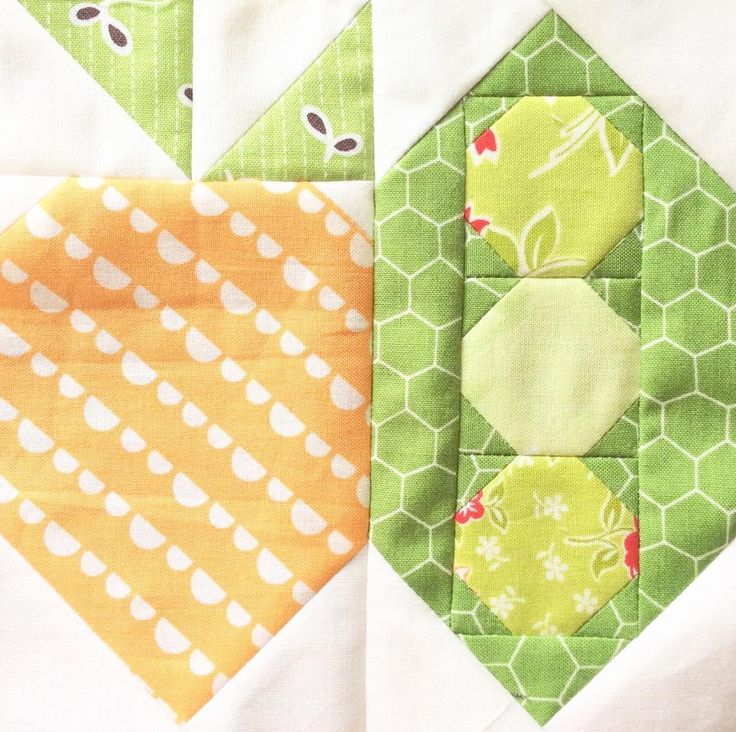 (7) Name: 'Quilting : Carrots and Peas Quilt Block