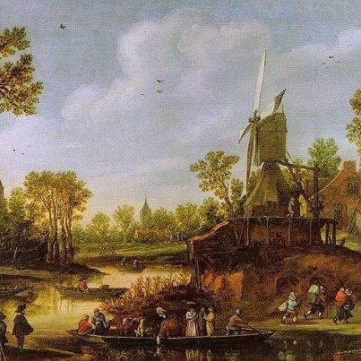 Jan van Goyen, Paesaggio fluviale (1625)