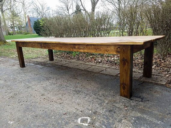Rustic Farm Table 12 Foot Reclaimed Wood Farm House Primitive Etsy In 2020 Rustic Farm Table Antique Farm Table Farm Table