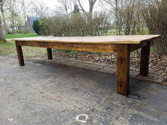 Rustic Farm Table 12 Foot Reclaimed Wood Farm House Primitive Etsy In 2020 Rustic Farm Table Antique Farm Table Farm Table