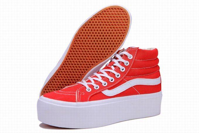 Vans SK8-Hi Platform Classic Red White Womens Shoes  Vans ... 9f369574f