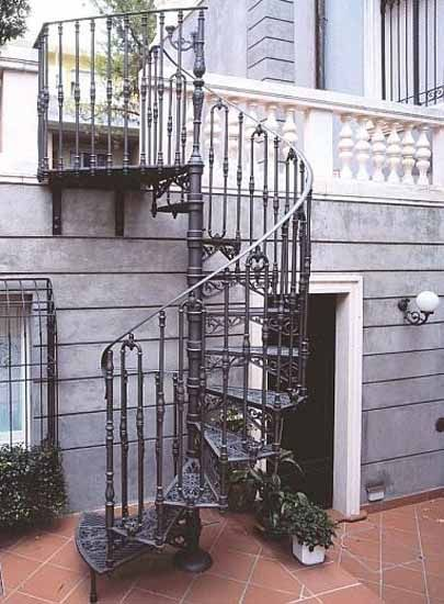 Best 25 exterior stairs ideas on pinterest contemporary - Spiral staircase exterior aluminum ...