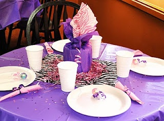 Purple zebra baby shower from Holeyknees and Dragonflies