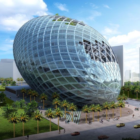 The Cybertecture Egg of 21 James Law, Mumbai, India