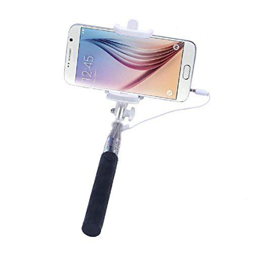 Handlife® Selfie Stick Fil/manche telescopique telephone/ bâton selfie/monopode smartphone/Monopied Télescopique/Autoportrait photo…