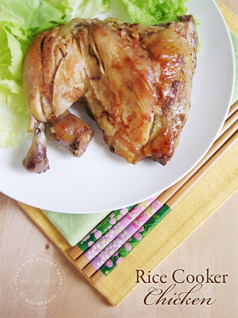 Rice Cooker Chicken -- I must try this.  I already have a rice cooker, which I may be able to use like a slow cooker.  One less gadget taking up room!