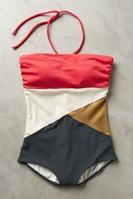 Touche Split-Tone Maillot Pink L Swimwear #anthrofave