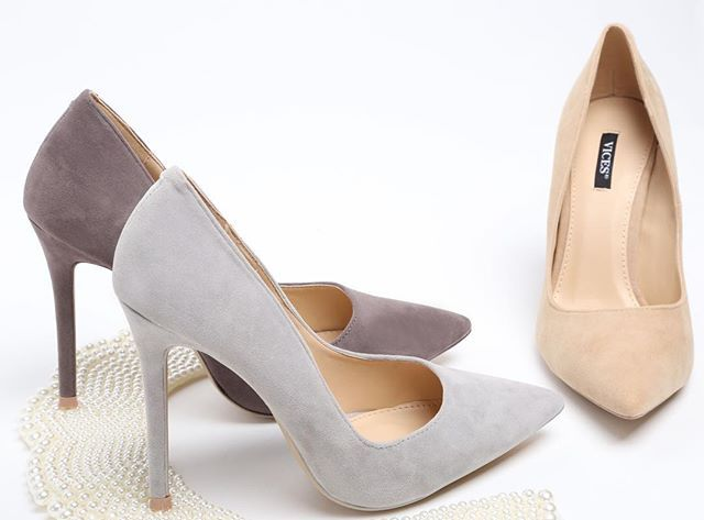 Suede suede heels - this is what we have for you 👌🏻 #vices #heels #suede #brand