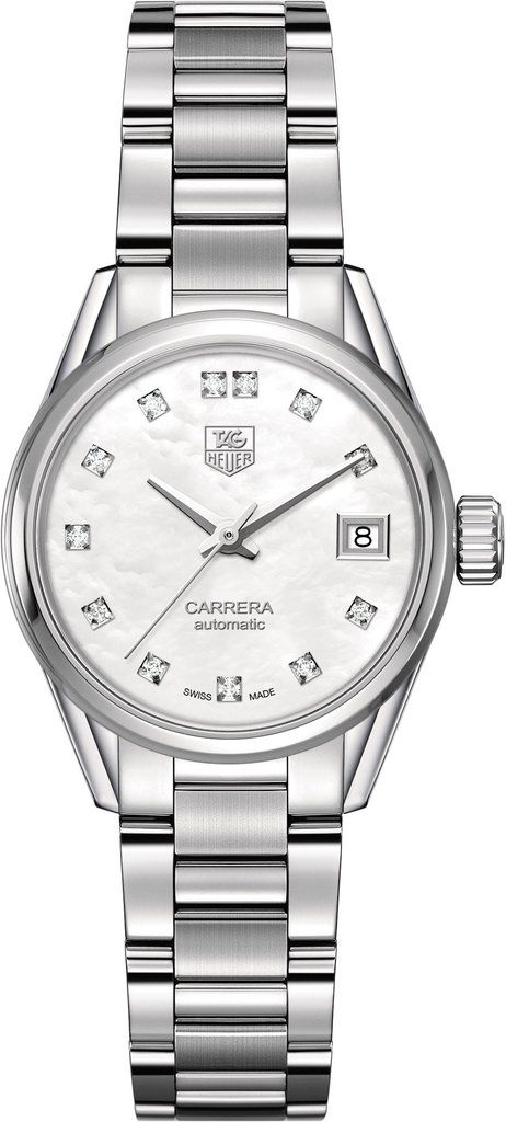 TAG Heuer Watch Carrera #bezel-fixed #bracelet-strap-steel #brand-tag-heuer #case-material-steel #case-width-28mm #date-yes #delivery-timescale-4-6-days #description-done #dial-colour-white #gender-ladies #luxury #movement-automatic #official-stockist-for-tag-heuer-watches #packaging-tag-heuer-watch-packaging #style-dress #subcat-carrera #supplier-model-no-war2414-ba0776 #warranty-tag-heuer-official-2-year-guarantee #water-resistant-100m