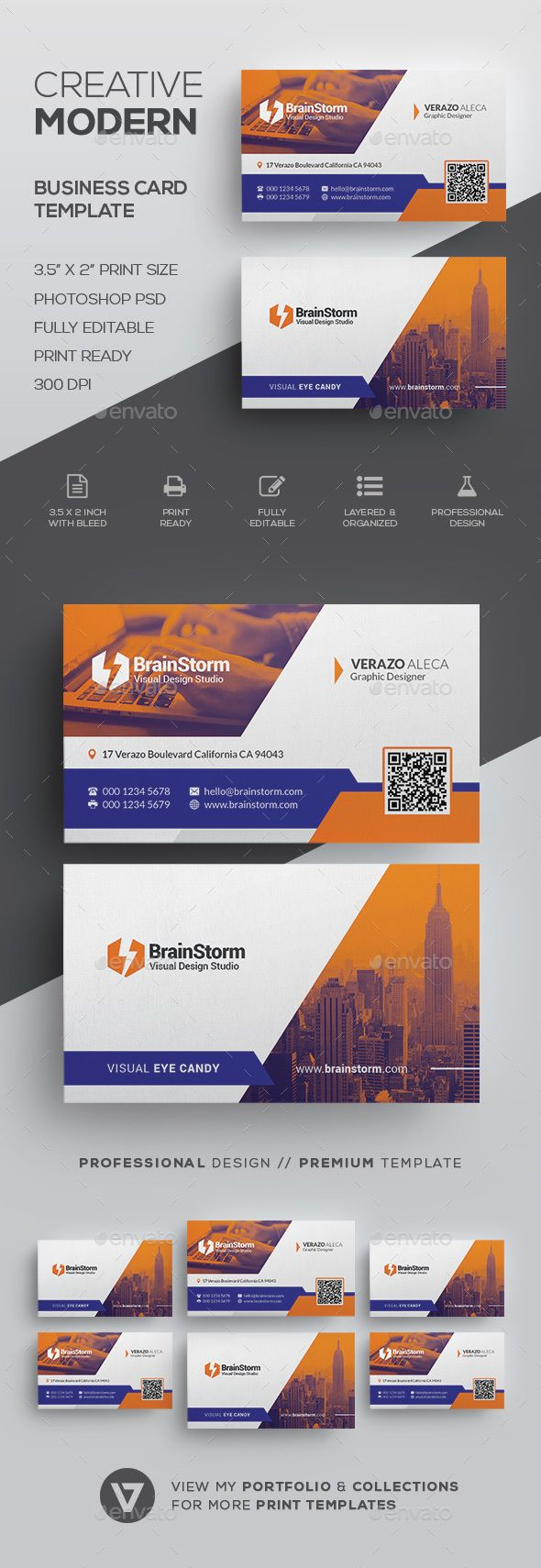 #Creative #Business #Card Template - Creative Business Cards Download here:  https://graphicriver.net/item/creative-business-card-template/20042281?ref=alena994
