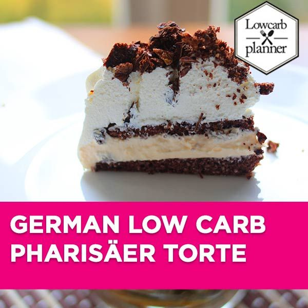 Low Carb Pharisäer Torte - LOW CARB PLANNER. This Cake Recipe is #sugarfree, has a #glutenfree and #lowcarb crust and is the perfect WEEKEND treat for the whole family.