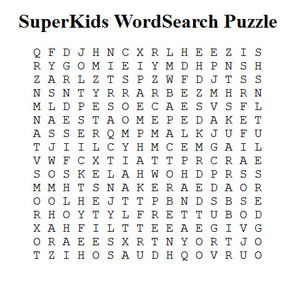 14 Places to Create Your Own Free Word Search Puzzles: SuperKids Free Word Search Maker