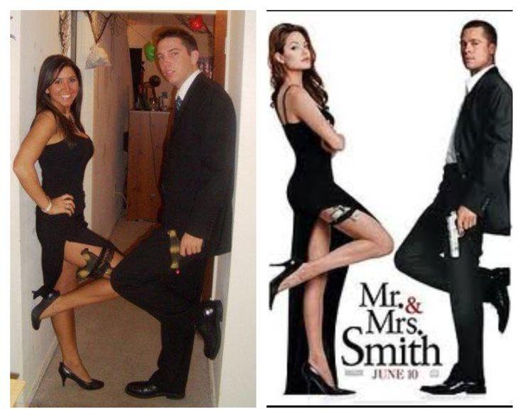 Mr. & Mrs. Smith Halloween Costume. Couples costume. Halloween