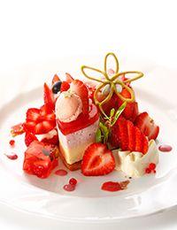 苺のプレートデザート
