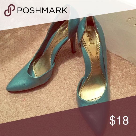 Turquoise heels Worn Once! Shoes Heels