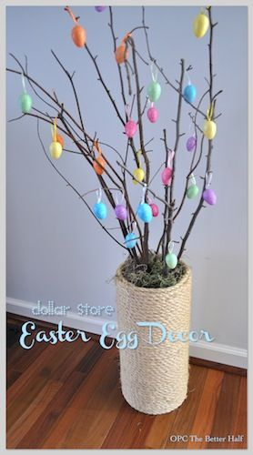 Easter Egg Tree: by One Project Closer's The Better Half