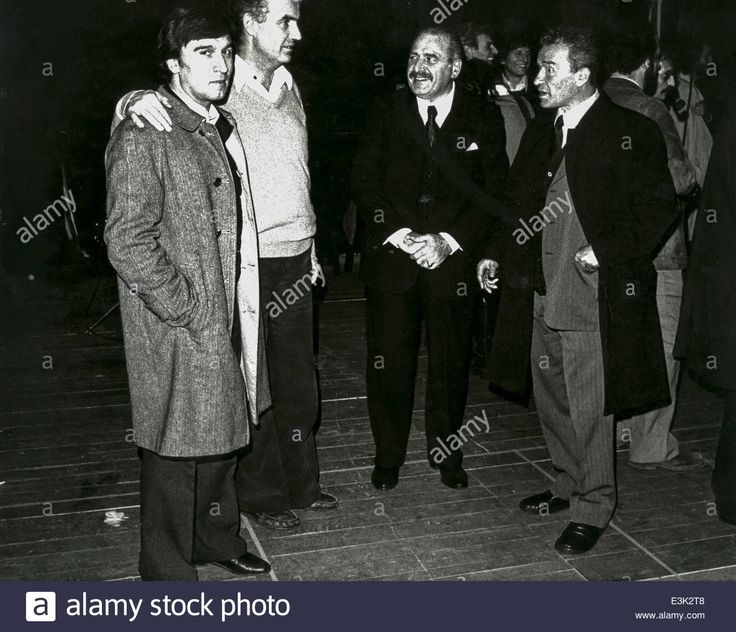 Claudio Abbado, Luigi Nono and Paolo Grassi at the Teatro Lirico in 1972 (E3K2T8)