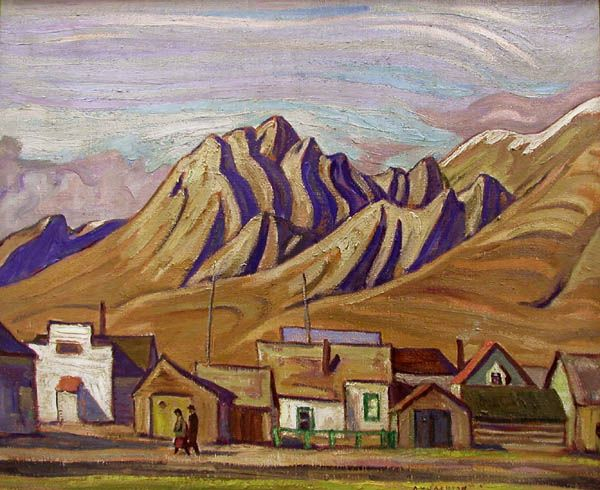 A.Y. Jackson - Coal Mines Canmore Alberta 21 x 26 Oil on canvas (1940)