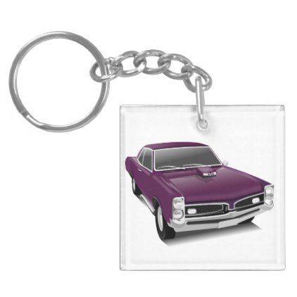 Classic Retro Purple Car Keychain - classy gifts custom diy personalize