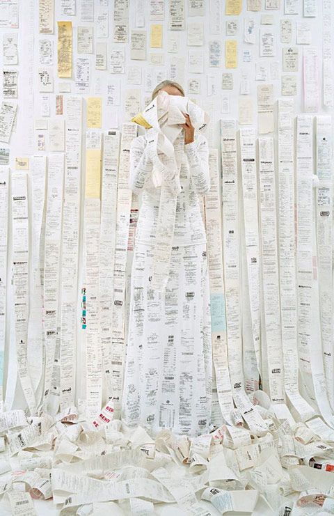 In Lost In My Life,Rachel Perry Welty's imaginative series of self portraits,the conceptual artist hides herself intake-out containers, fruit stickers, receipts, toys, silver twist ties, m…