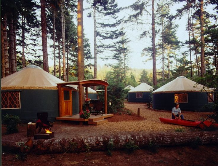 Not only does this inland lake state park offer yurts, they also offer deluxe yurts, which feature heat, indoor plumbing, and a kitchenette. It's a (mercifully) far cry from a traditional yurt, which is made of bamboo and animal skin