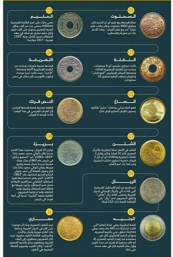 العملات المعدنية المصرية من السحتوت إلى الجنيه Coins