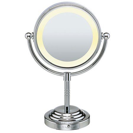 Conair Double-Sided Lighted Mirror, Silver