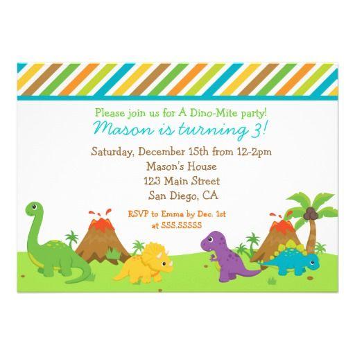 102 best dinosaur invitations images on pinterest   dinosaur, Birthday invitations