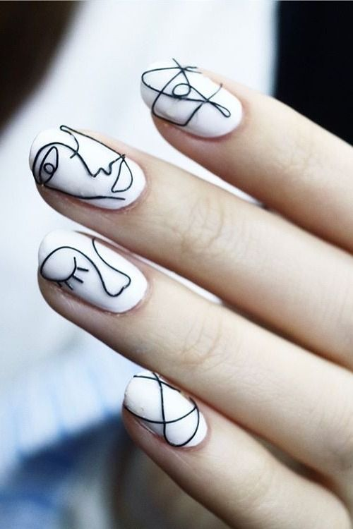 #white #wire #nails #nailart