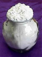 Baking Powder ~ Two (2) parts cream of tartar to one (1) part baking soda and one (1) part corn starch.