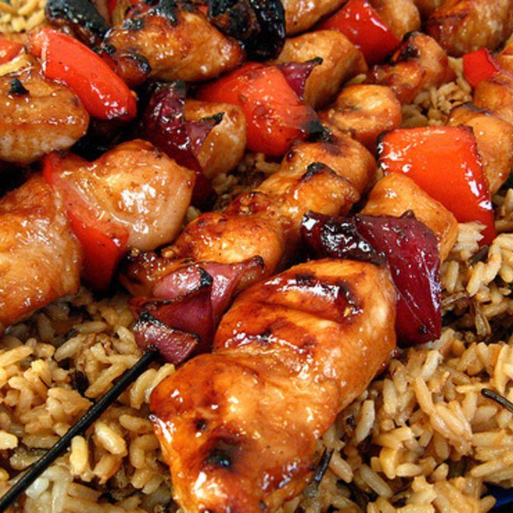 Chicken Kabobs Recipes | Honey Chicken Kabobs Recipe | Just A Pinch ...
