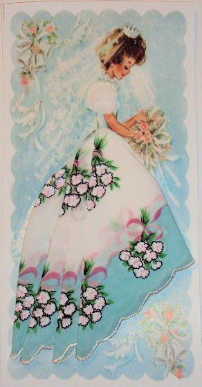 Vintage hanky card