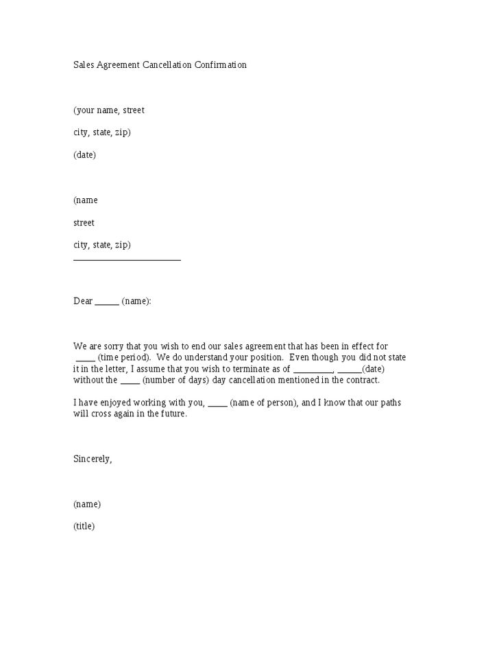 sales agreement cancellation confirmation letter template hashdoc sample tenancy termination