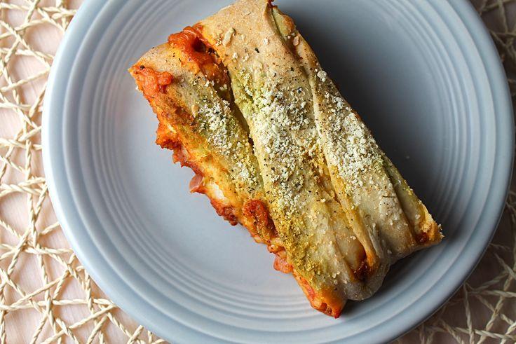 Cheesy Baked Spaghetti Bread