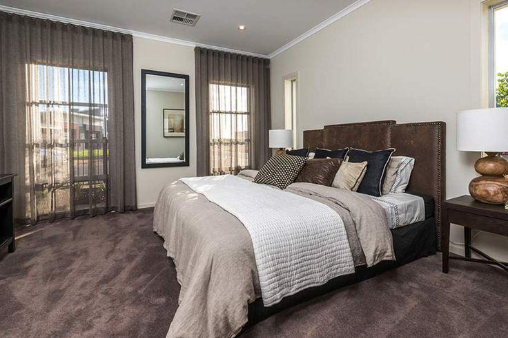 This delightful master bedroom is inspired by modern luxury. #weeksbuildinggroup #newhome #homedesign