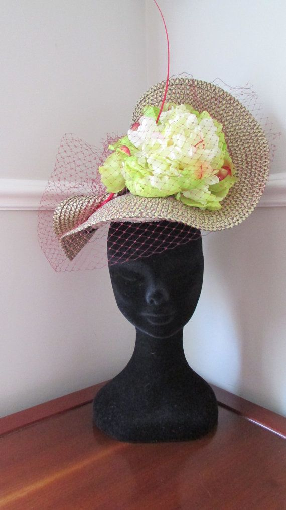 Gold Racing Hat Ladies Day Hat Mother of by HatCoutureDesigns
