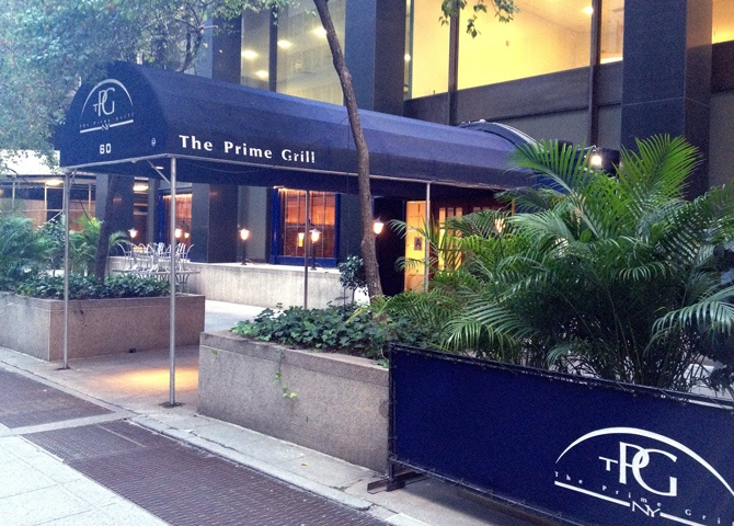 The Prime Grill -- Fantastic, upscale restaurant in Manhattan