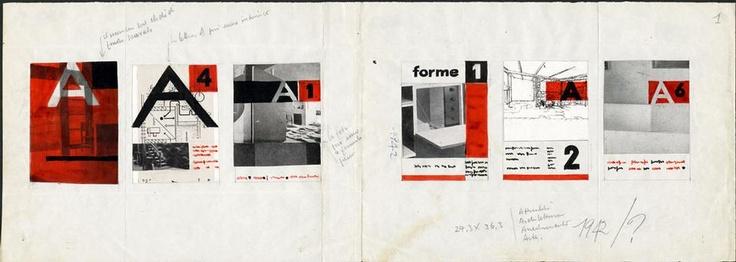 Studi per una copertina di rivista per Editoriale Domus. Archivio Albe e Lica Steiner