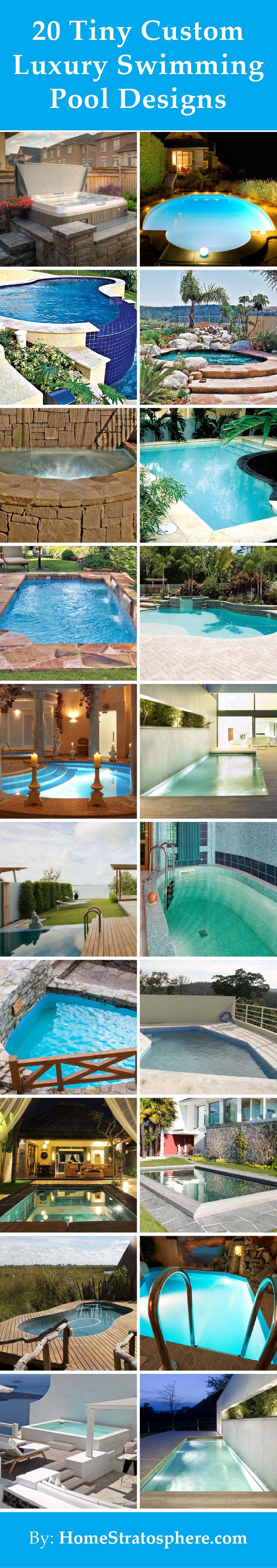 20 Tiny Custom Luxury Swimming Pool Designs (Photos)