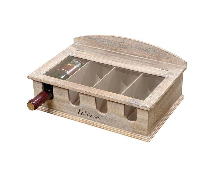 Коробка для бутылок - мдф- коричневый - Д37хШ25хВ16   Westwing Интерьер & Дизайн