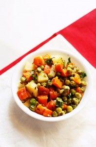 Aloo Gajar Matar recipe #Potatoes #Carrots #Peas #Indian
