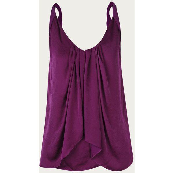 Diane von furstenberg tops (€190) ❤ liked on Polyvore featuring tops, shirts, tanks, blusas, purple, diane, furstenberg, magenta, von and diane von furstenberg tops
