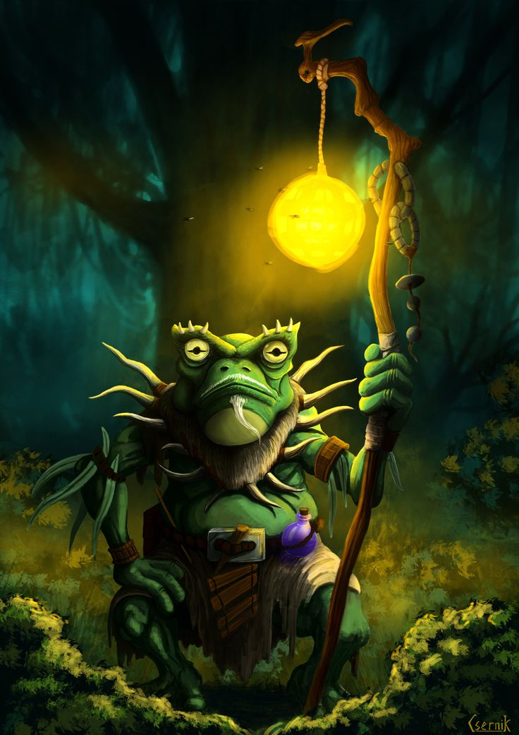 Frog Wizard, Janos Csernik on ArtStation at https://www.artstation.com/artwork/vbyJx