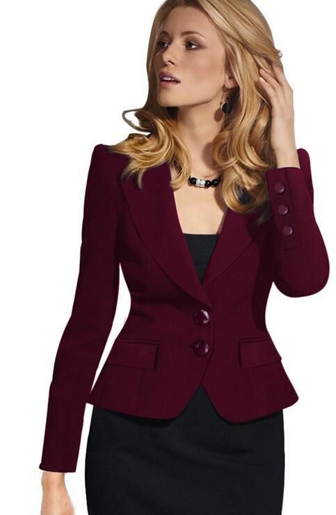 47b89852a6b7e Vfemage Womens Autumn Winter Long Sleeve Turn Down Collar Button Wear to  Work Blazer