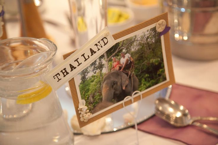 This couple had a travel-themed wedding!